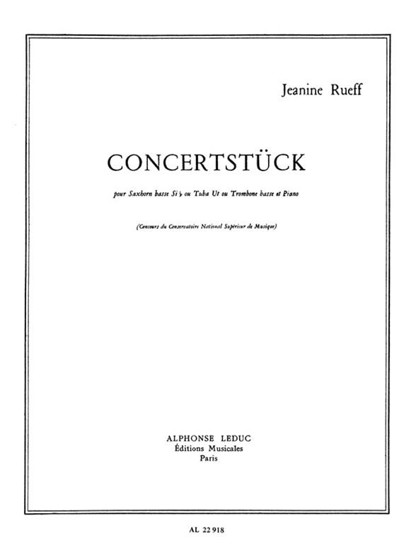 Jeanine Rueff: Concertstuck (C Or B Flat) (Tuba & Piano)