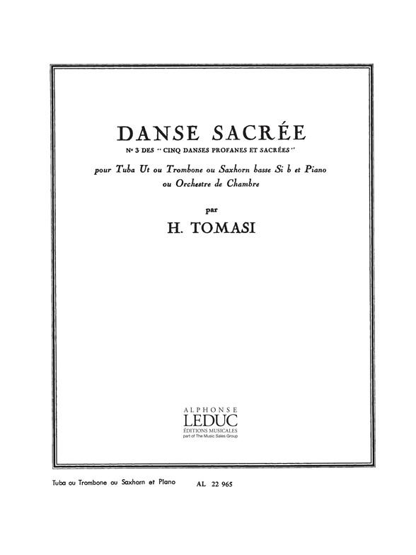 Henri Tomasi: Danse sacrée - No. 3 des
