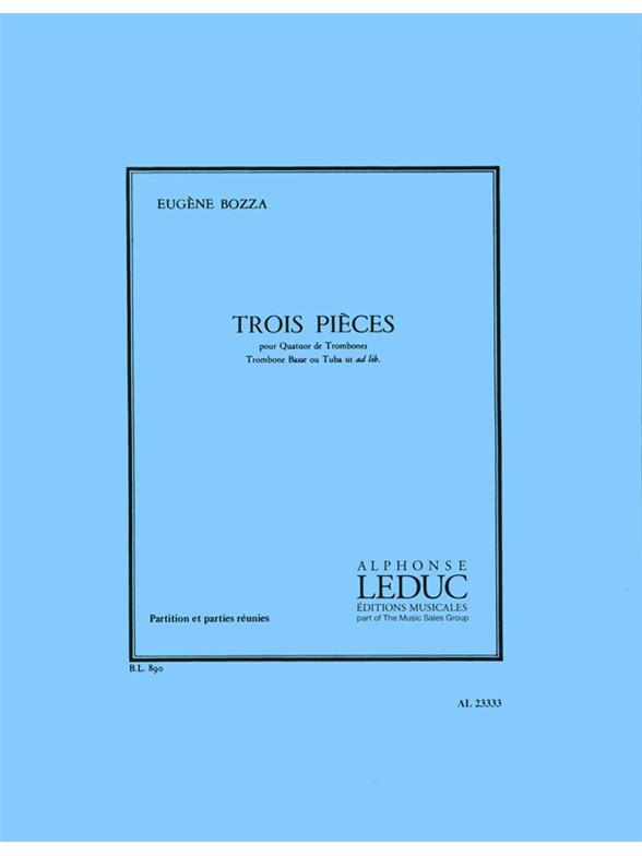 Eugène Bozza: 3 Pièces: Trombone Ensemble: Score and Parts