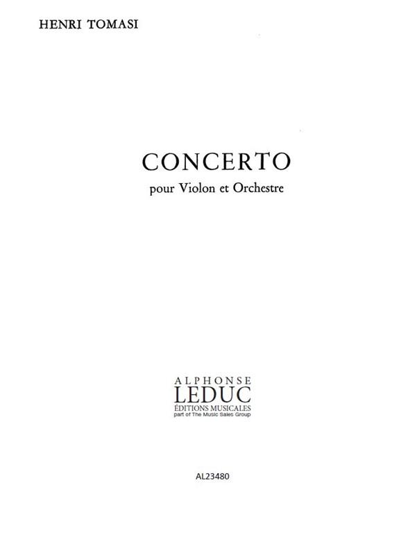 Henri Tomasi: Concerto-Violon Orchestre: Orchestra: Instrumental Work