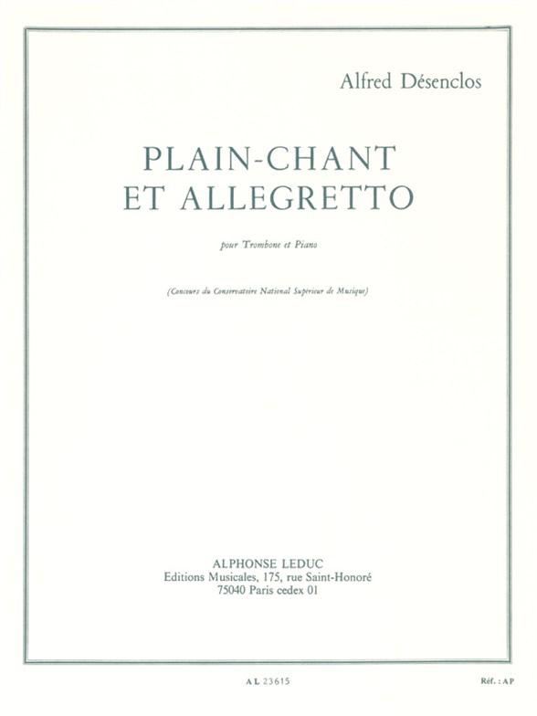 Alfred Desenclos: Plain-Chant Et Allegretto: Trombone: Instrumental Work