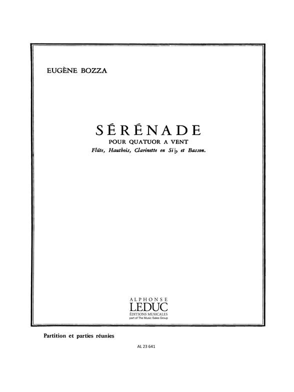 Eugène Bozza: Sérénade: Wind Ensemble: Score and Parts