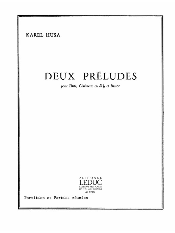 Karel Husa: Karel Husa: 2 Preludes: Mixed Trio: Score and Parts
