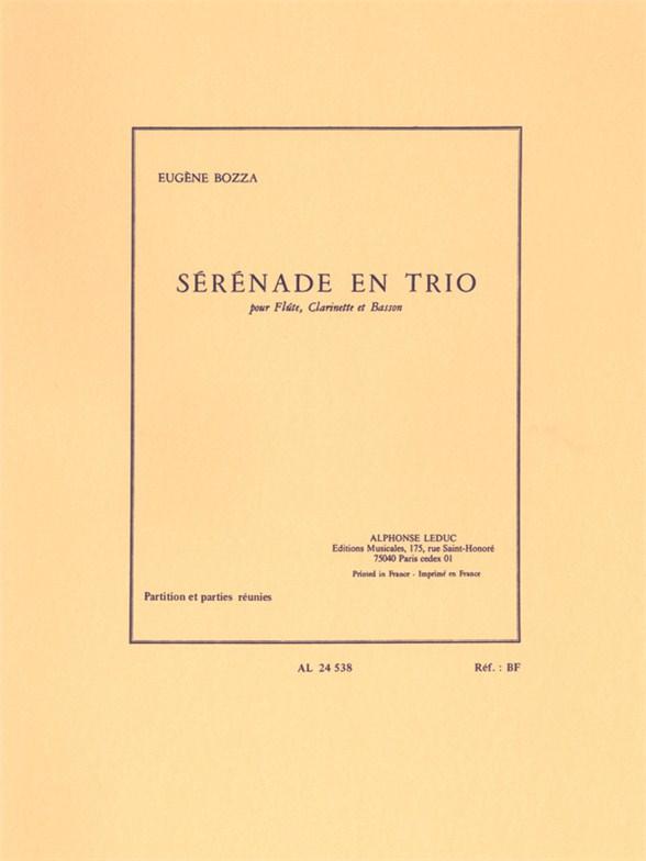 Eugène Bozza: Sérénade En Trio: Mixed Trio: Instrumental Work
