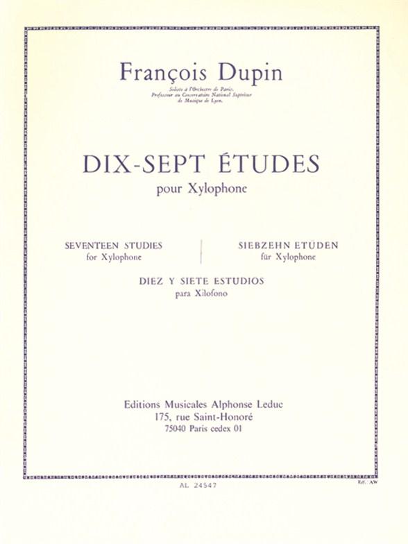 François Dupin: 17 Etudes pour Xylophone: Xylophone: Study