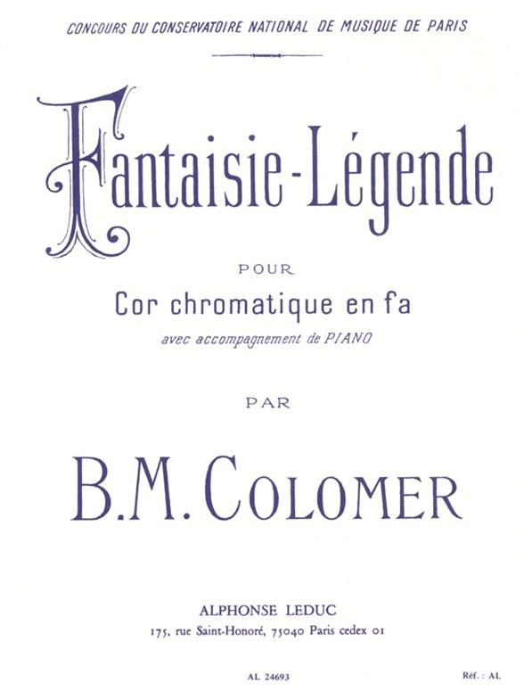 Colomer: Fantaisie Legende: French Horn: Instrumental Work