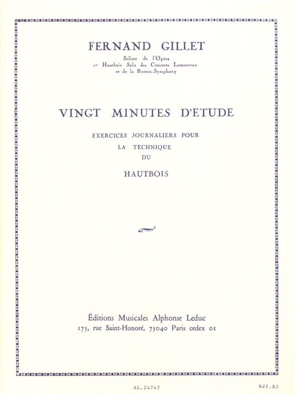 Ferdinand Gillet: 20 Minutes d'Etude: Oboe: Study
