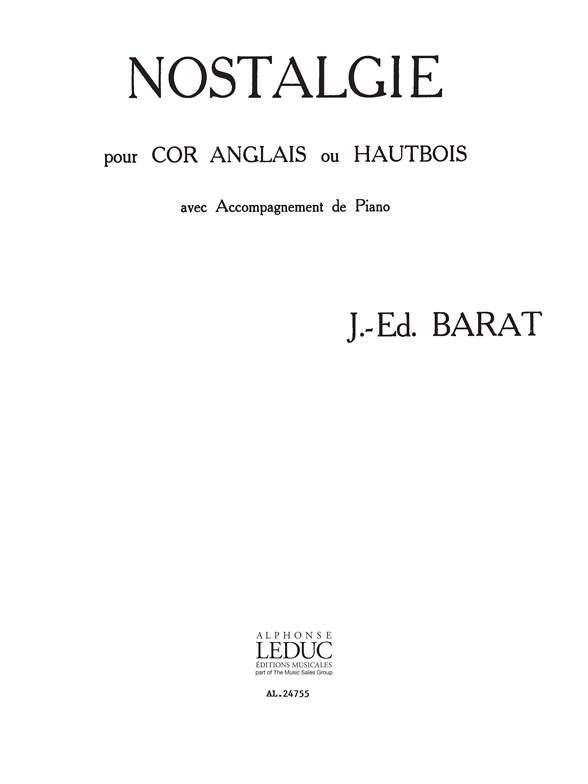 Jacques Barat: Nostalgie: Cor Anglais: Instrumental Work