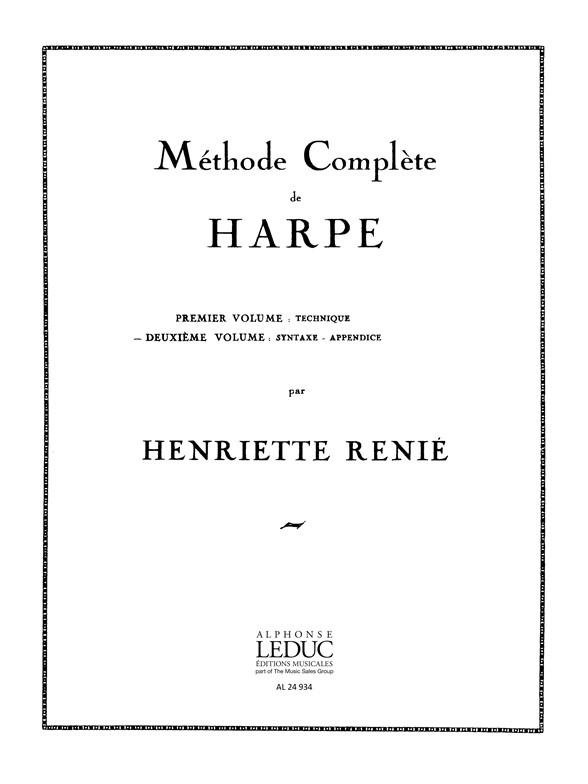 Henriette Renié: Méthode Complète de Harpe Vol. 2: Harp: Instrumental Work