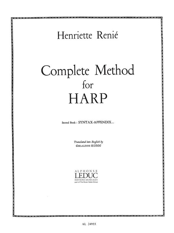 Henriette Renié: Complete Method for Harp Vol. 2: Harp: Instrumental Work