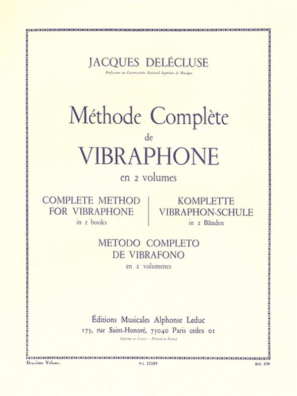 U. Delecluse: Methode Vol. 2 Vibraphone: Vibraphone: Instrumental Tutor