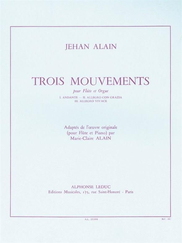 Alain: 3 Mouvements: Flute: Instrumental Work