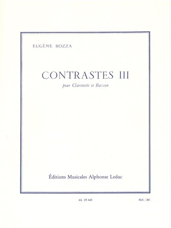 Eugène Bozza: Contrasts III: Mixed Duet: Instrumental Work