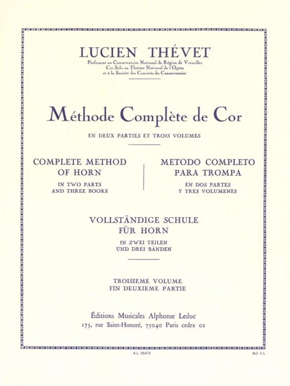 Lucien Thévet: Lucien Thevet: Complete Method of Horn: French Horn: Instrumental
