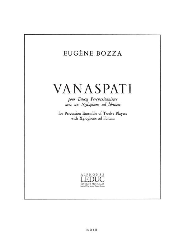 Eugène Bozza: Vanaspati: Percussion: Score