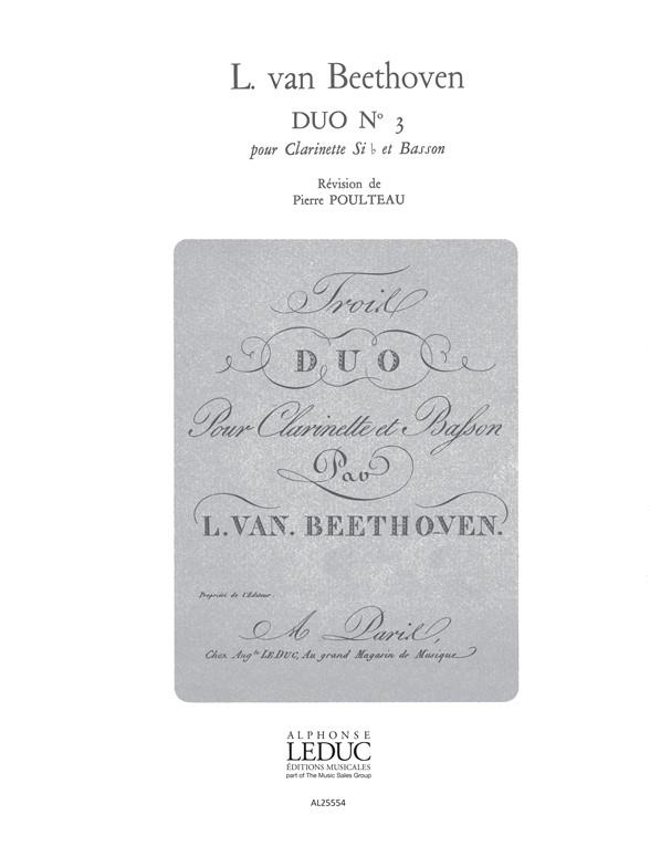 Ludwig van Beethoven: Duo No.3: Mixed Duet: Score