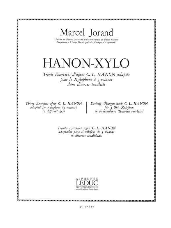 Jorand: Hanon-Xylo: Xylophone: Score