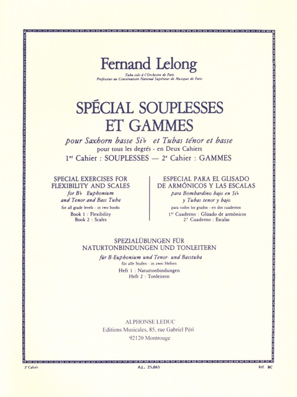 Fernand Lelong: Fernand Lelong: Special Souplesses et Gammes: Tuba: Instrumental