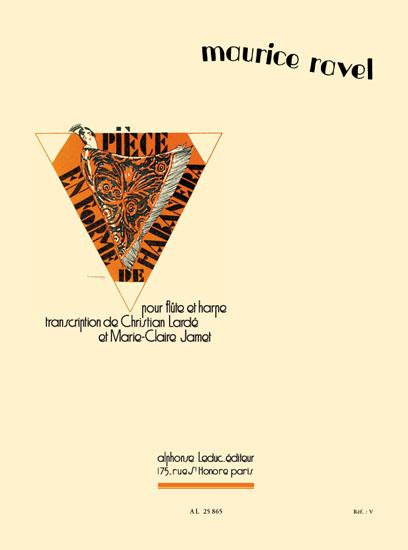 Maurice Ravel: Pièce En Forme De Habanera: Flute & Harp: Instrumental Work