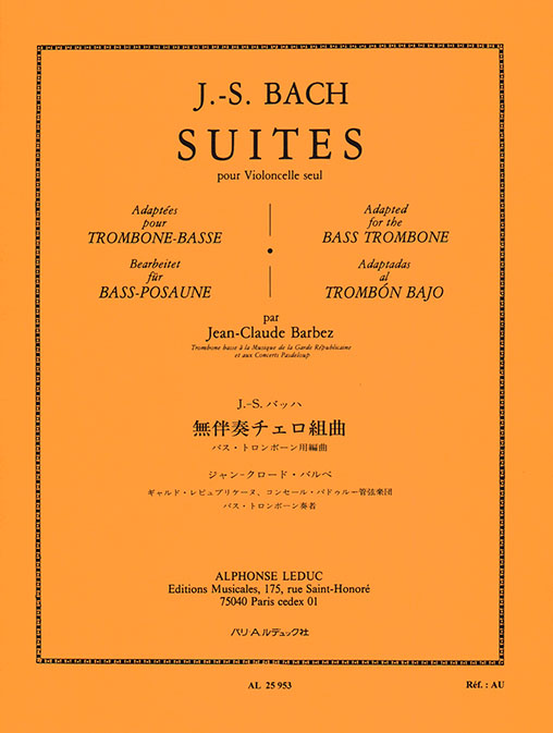 Johann Sebastian Bach: Suites For Solo Cello: Bass Trombone: Instrumental Album