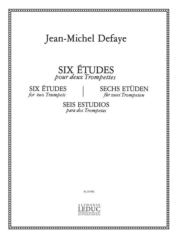 Jean-Michel Defaye: 6 Etudes: Trumpet Duet: Score