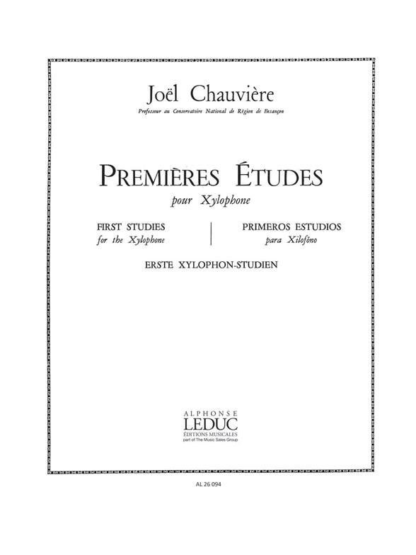 Chauviere: Premieres Etudes: Xylophone: Score