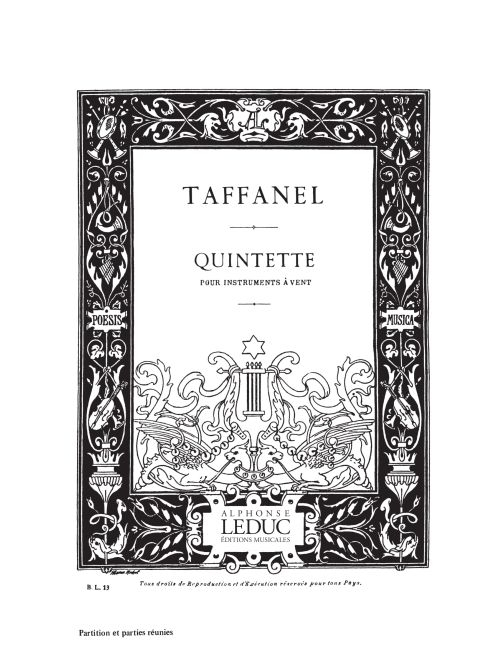 Paul Taffanel: Quintette a Vent: Wind Ensemble: Score and Parts