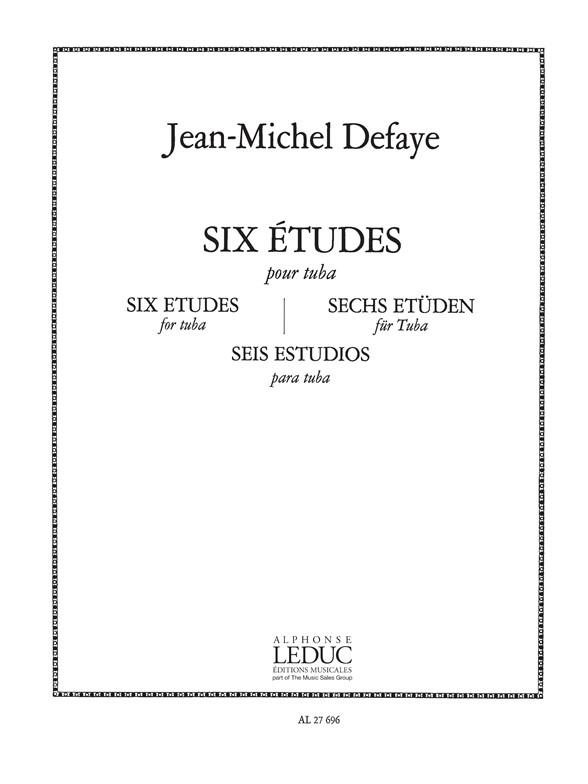Jean-Michel Defaye: 6 Etudes: Tuba: Score