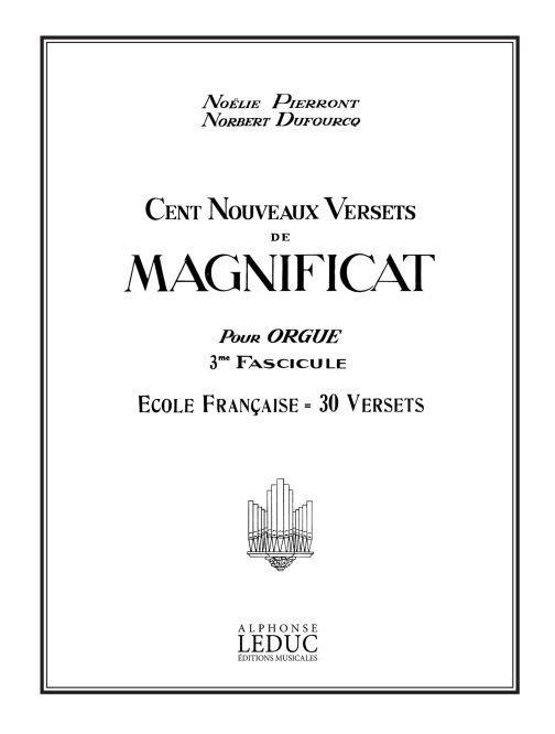 100 Nouveaux Versets de Magnificat Vol.3: Organ: Score