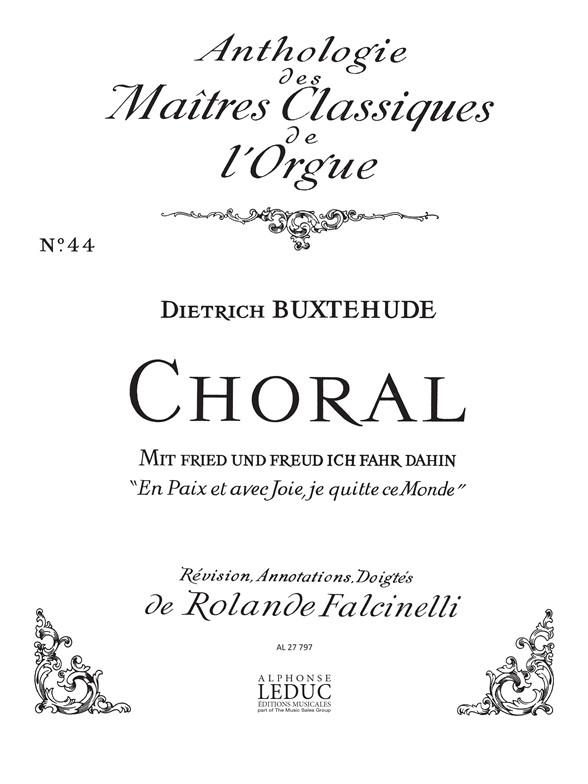Dietrich Buxtehude: Mit Fried Und Freud Ich Fahr: Score