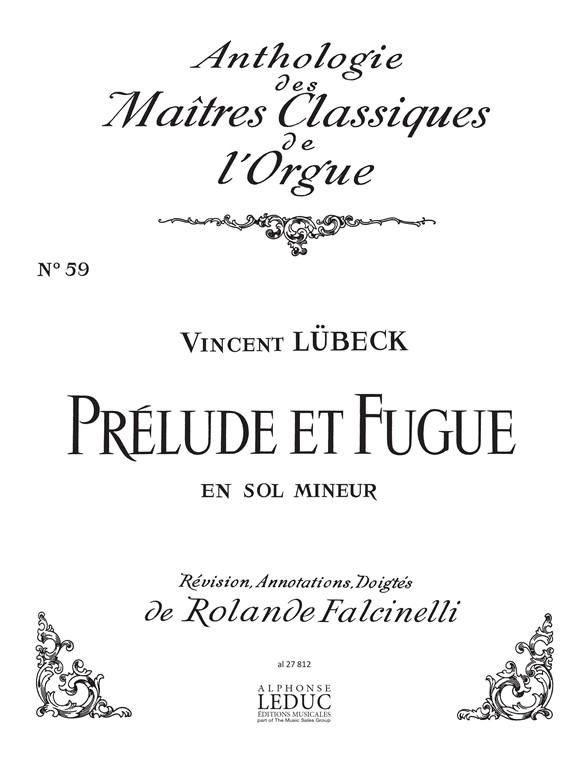 Lubeck: Prélude et Fugue in G minor: Organ: Score