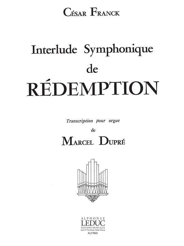 César Franck: Interlude symphonique: Organ: Score