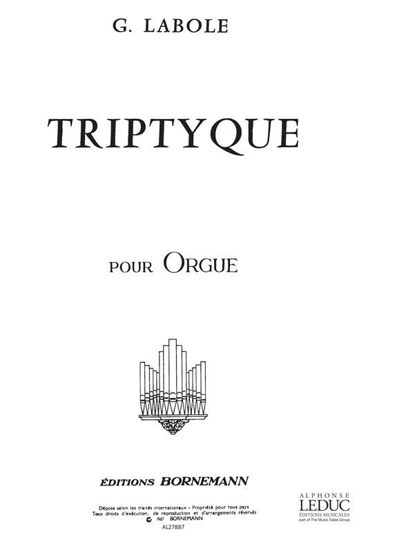 Labole: Triptyque: Organ: Score