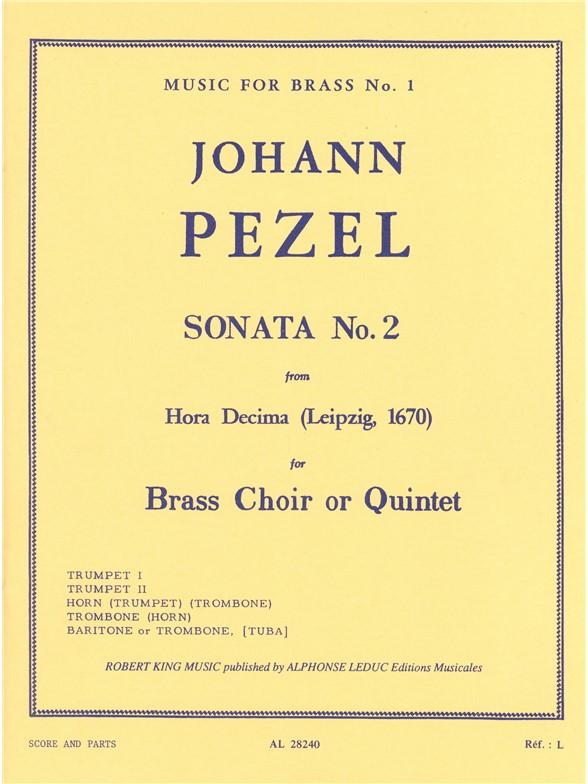 Pezel: Sonata N02-Hora Decima: Brass Ensemble: Score and Parts