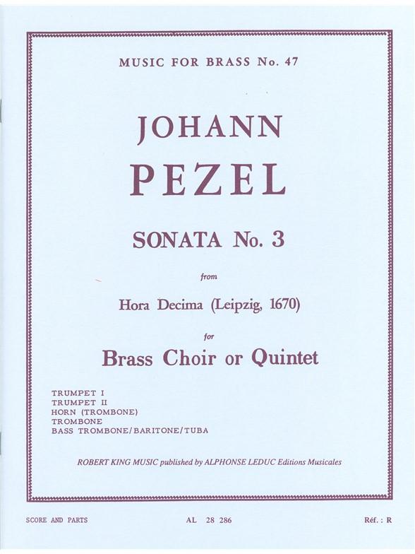 Pezel: Sonata N03-Hora Decima: Brass Ensemble: Score and Parts