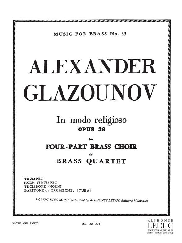 Alexander Glazunov: Historiettes: Brass Ensemble: Score and Parts