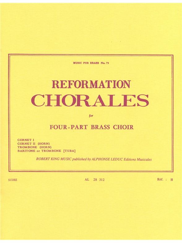 Reformation Chorales: Brass Ensemble: Score