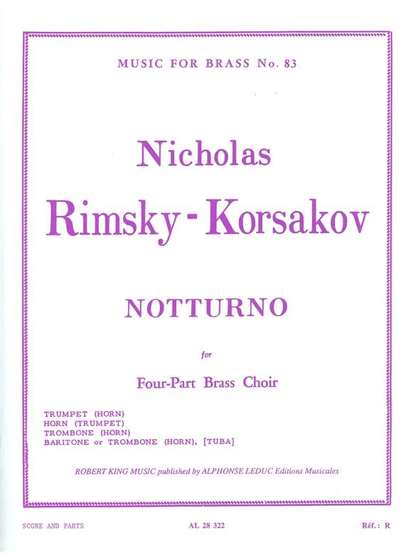 Nikolai Rimsky-Korsakov: Nocturne: Brass Ensemble: Score and Parts