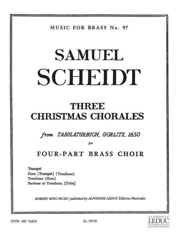 Scheidt: 3 Christmas Chorales: Brass Ensemble: Score and Parts