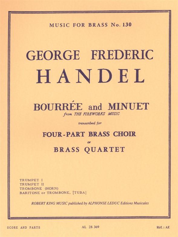Georg Friedrich Händel: Bourrée Et Menuet 'Fireworks Music': Brass Ensemble: