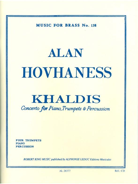 Alan Hovhaness: Alan Hovhaness: Khaldis: Brass Ensemble: Score and Parts