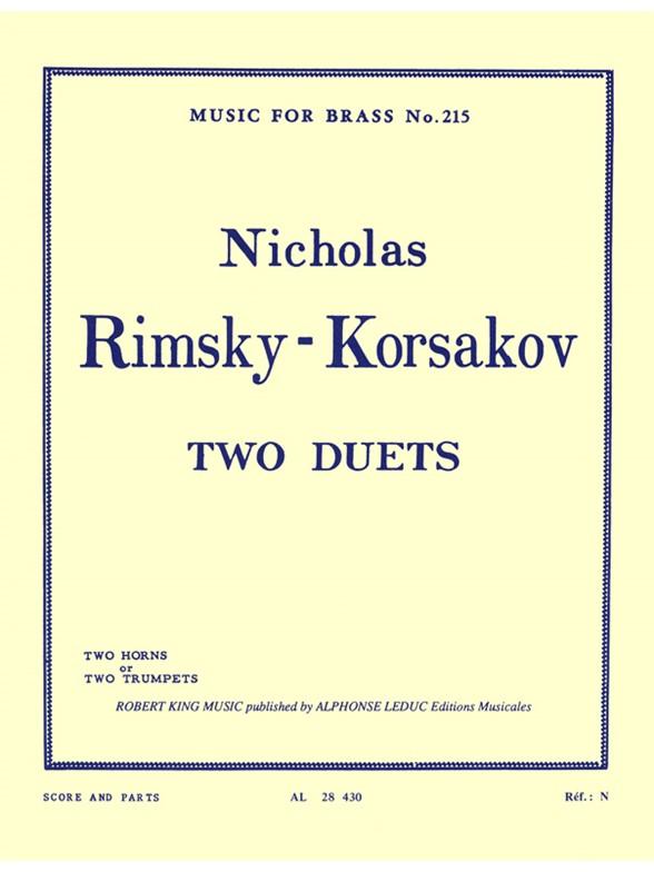 Nikolai Rimsky-Korsakov: Duets(2): Trumpet Duet: Score and Parts