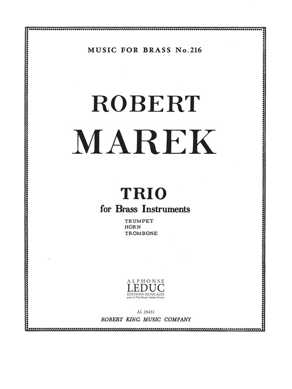 Marek: Trio: Brass Ensemble: Score and Parts