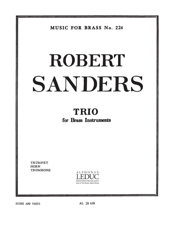 Sanders: Trio: Brass Ensemble: Parts