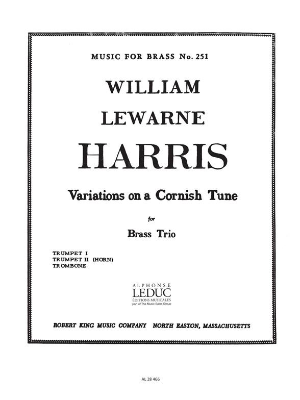 Harris: Variations On A Cornish Tune: Brass Ensemble: Parts