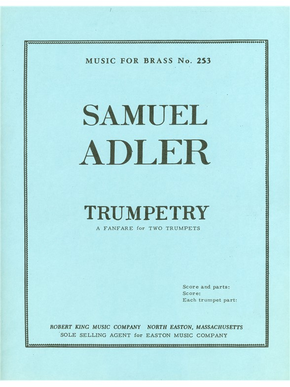 Samuel Adler: Trumpetry: Trumpet Duet: Instrumental Work