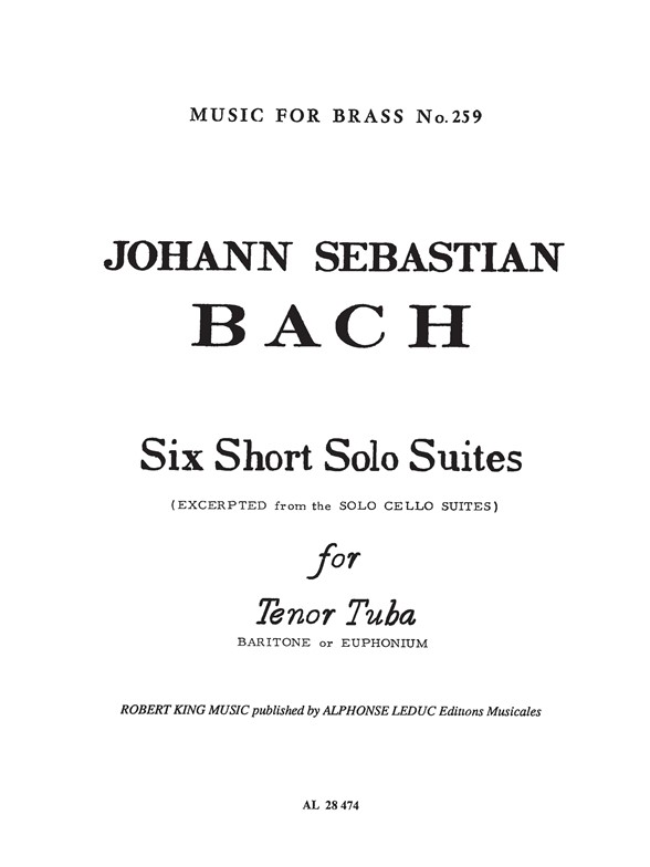 Robert King: Six Short Solo Suites: Euphonium: Instrumental Work