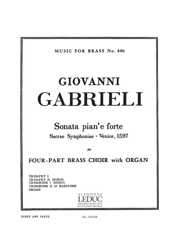 Andrea Gabrieli: Sonata Pian'E Forte: Brass Ensemble: Score and Parts