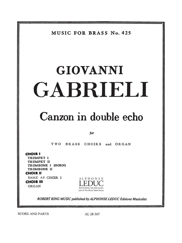 Andrea Gabrieli: Canzon In Double Echo: Brass Ensemble: Score and Parts