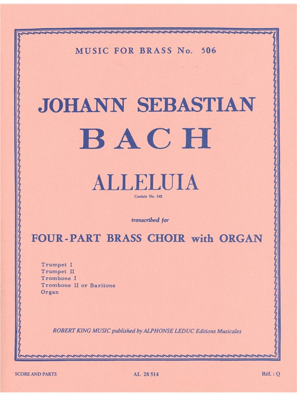 Johann Sebastian Bach: Alleluia From Cantata No.142: Brass Ensemble: Score and